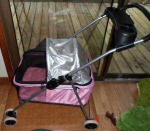 Best Pet Travel Stroller For Dog or Cat - Pink