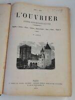 N11 Ancien Journal hebdo Illustré L'ouvrier 1869-1870 9eme Année Paris Bleriot