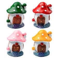 Mushroom House Miniature Fairy Garden Resin Dollhouse Plant Pots Ornament Decor