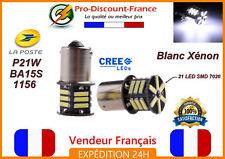 2 x ampoule LED BA15S 1156 P21W BLANC XENON  VOITURE Feux Recul / Jour SMD 7020