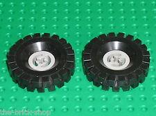 Roues LEGO Espace TECHNIC tyre 17x43 ref 3634 + Wheel OldGray / Set 948 6926 ..