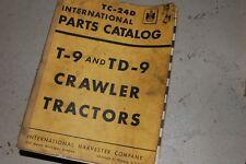 Ih International Harvester T9 Td9 Tractor Dozer Crawler Parts Manual Book List