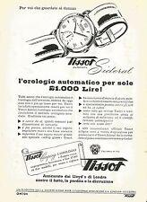 W0304 Orologio automatico TISSOT Sideral - Pubblicità 1952 - Advertising