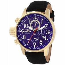 New Mens Invicta 1516 I Force Collection Chronograph Black Strap Watch