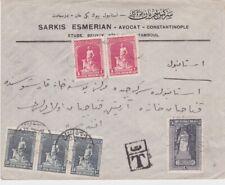 Turkey-1929 Underpaid 30 paras on Armenian lawyer Istanbul cover to Ankara