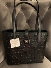 KateSpade Kaci Spade flower embossed bag Black Shoulder Bag New