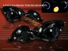 1998-2005 LEXUS GS300/GS400/GS430 PROJECTOR HEADLIGHTS CCFL TWO HALO BLACK
