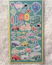 Holiday Sport Paper Stickers Travel Hot Balloon Scrapbook diary Cardmaking DIY
