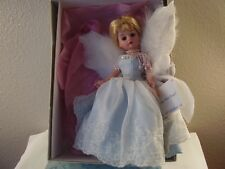 "2000 Madame Alexander 10"" BLUE MIST ANGEL DOLL Blonde BLUE EYES Wings 36740 MIB"