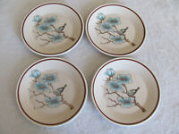 Lenox Temperware Softwind-Blue Flowering Branch & Bird- Set of 4 Bread Plates