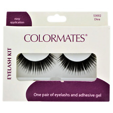 Colormates Diva Set of False Eyelashes with Adhesive Black