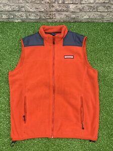 Vineyard Vines Women's Size Large Fleece Vest Red Full Zip Pockets