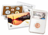 2019 S US Clad Proof Coin Set & 2019-W Lincoln Cent PF69 RD FR SKU57608