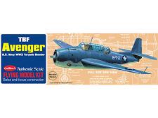 TBF Avenger, Stick and Tissue, free flight, Model Airplane Kit 509, Rubber Power