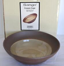 """New Sango Canyon Sage Vegetable Serving Bowl Brown Stoneware 10"""" ROUND Dish 6005"""
