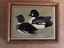 Framed W Morgan 1979 Duck Painting on tile