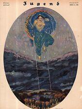 1921 Jugend July 30 German Art Nouveau Cover - Queen of Heaven - Julius Diez