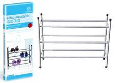 3 Tier Metal Frame Extendable Shoe Rack Holder Storage Organiser 62-113cm