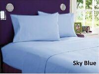 Soft Bedding Duvet Collection Sky Blue Egyptian Cotton Select AU Size & Item