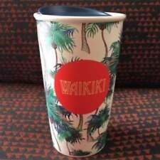 Starbucks Coffee Mug Tumbler Ceramics Pottery Hawaii L/d WAIKIKI 355m New Rare