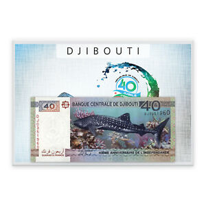 Whale Shark Banknote from Djibouti