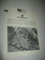 Vintage 1960's NASA Fact Sheets Lewis Research Cleveland OH FREE Ship Prop