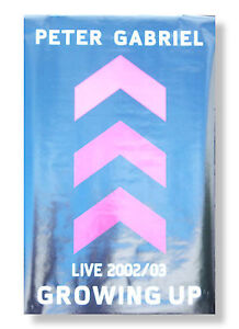 Peter Gabriel Growing Up Live 2002 2003 Poster Brand New Official