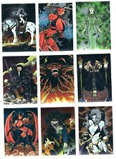 1995 LADY DEATH 2 trading cards,partial set and foil wrapper missing card #18.
