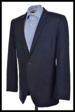 HUGO BOSS Recent Solid Blue Wool Blend Mens Blazer Sport Coat Jacket - 42 R