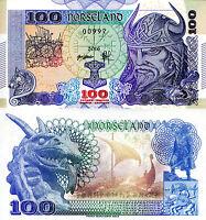 BERINGIA 1 Million Dinars Fun-Fantasy Note 2013 Private Issue T-Rex Triceratops