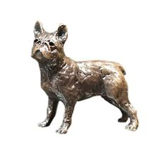 More details for french bull dog bronze miniature sculpture - butler & peach 2085