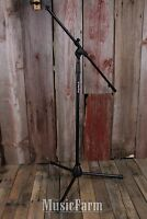 On Stage MS7701B Euro Boom Microphone Mic Stand with Removable Boom Arm Black