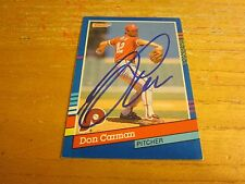 Don Carman Autographed 1991 Donruss #377 Trading Card MLB Philadelphia Phillies