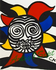 Alexander Calder Sun Face, Owl Eyes 1965 Color Lithograph! FREE FRAMING/SHIPPING