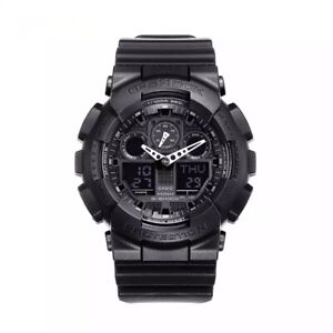 NEW G-Shock GA100-1A1 Men's Watch Black Resin Strap Chronograph