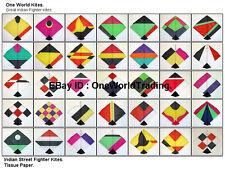 Indian Fighter Kites. Paper. 100 Large Kites Only. Patang. Gudda.