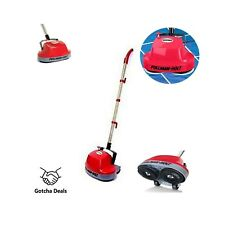 Electric Floor Scrubber Buffer Hardwood Carpet Tile Cleaner 2 Microfiber Pads