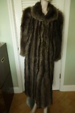 THE EVANS COLLECTION AT JORDAN MARSH Full-Length Raccoon Coat ~ Size L-XL
