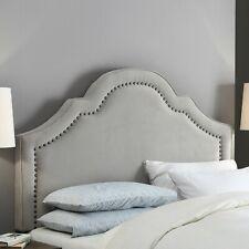 """Firstime & Co~Verona Gray Velvet Headboard Full / Queen ~ Bedroom 60"""" x 64"""" x 4"""""""
