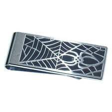 New Montblanc 1906 Rouge Et Noir Spider Money Clip Stainless Steel/Black Lacquer