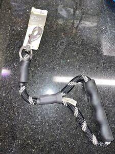 Good2Go Black Reflective Rope Leash for Big Dogs, 1 ft. Traffic Leash Training