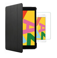 For  Apple iPad 10.2 (2020) Smart Case Cover & Glass Screen Protector (8th Gen)
