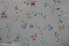 "1.4m/55"" ROUND flowers wipe clean vinyl oilcloth cover wipeable TABLE CLOTH CO"