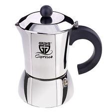 GRÄWE Espressokocher Espressokanne Edelstahl Induktion 4 Tassen Kaffeebereiter