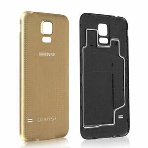 ORIGINAL SAMSUNG GALAXY S5 G900F AKKUDECKEL AKKU DECKEL BACKCOVER COVER - GOLD