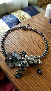 """Hand created 18"""" choker statement pearl necklace..."""