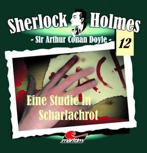 Sherlock Holmes 12 - Eine Studie in Scharlachrot 2 CD Maritim Verlag Hörspiele N
