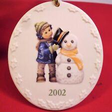 Vtg Goebel Berta Hummel Ornament 2002 Perfect Fit F11541-1 in Box Snowman Child