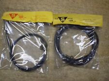 NOS Surre Cycle #222 & 223 Schwinn Black Front Brake Cable W/ Adjuster Raleigh &