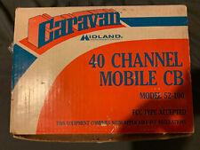 Vintage Caravan Midland Model 52-100 40 Channel CB Radio Mobile Transceiver
